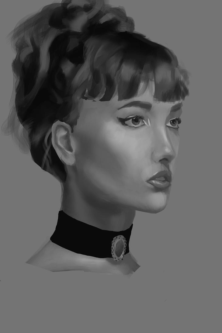 Grayscale Portrait by Espiol
