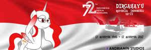 Banner of 72th Independence Day of Indonesia