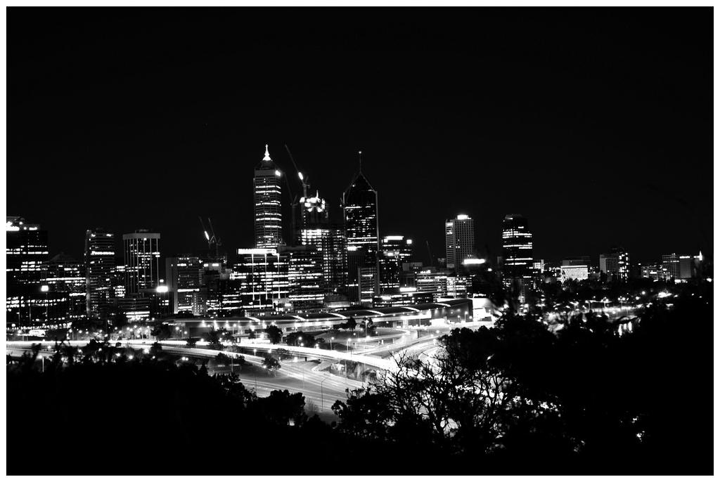 City Lights in Black and White by *neonpanic on deviantART