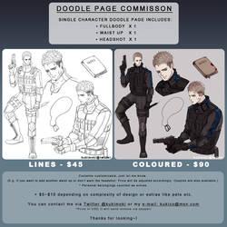 Doodle page commission info