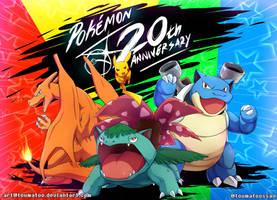 POKEMON 20th ANNIVERSARY by Toumatoo