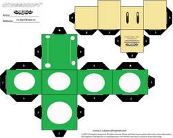 1-Up Mushroom Cubee by Respeto6