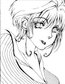 Sakura - black and white