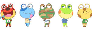 ACNH Frogs