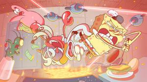 Spongebob Flipping Krabby Patty
