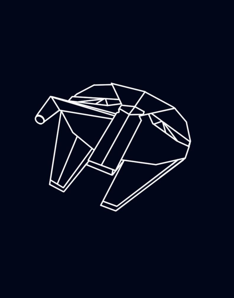 Millennium Falcon Origami Digital Art By Littleskypaper On Deviantart