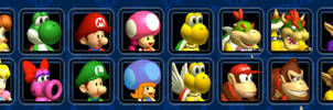 New Character Roster for Mario Kart: Double Dash