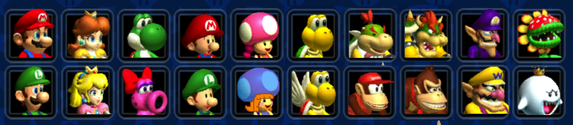 New Character Roster For Mario Kart Double Dash By