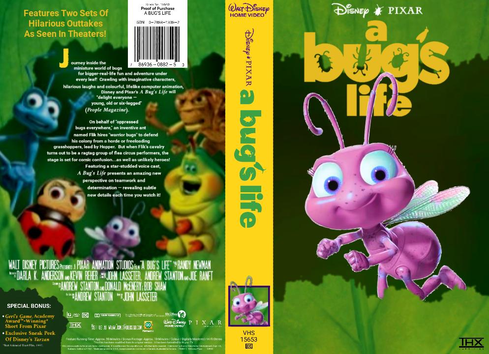 Disney Pixar A Bug S Life Vhs Cover By Trustamann On Deviantart