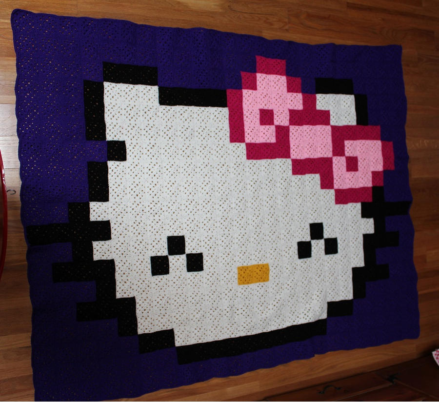 Hello Kitty Blanket by DeadNeonFlies