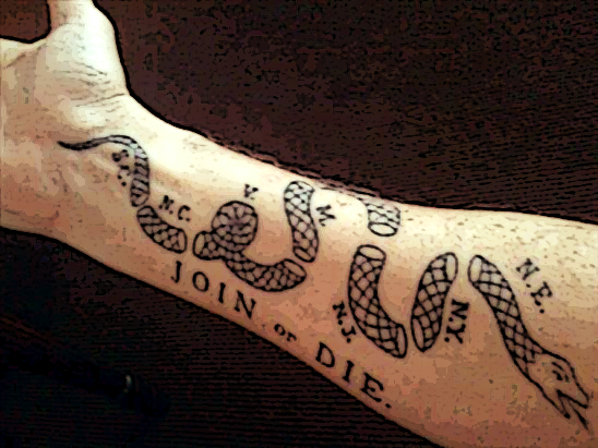 Join or die by mcaddicted on deviantart for Join or die tattoo
