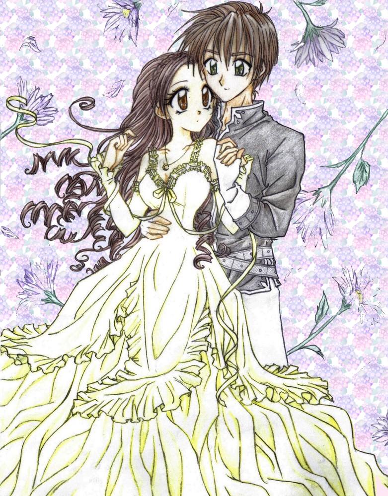 Prince and princess by chikorita85