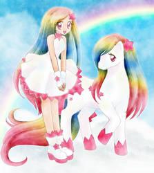 Rainbow Pony by chikorita85