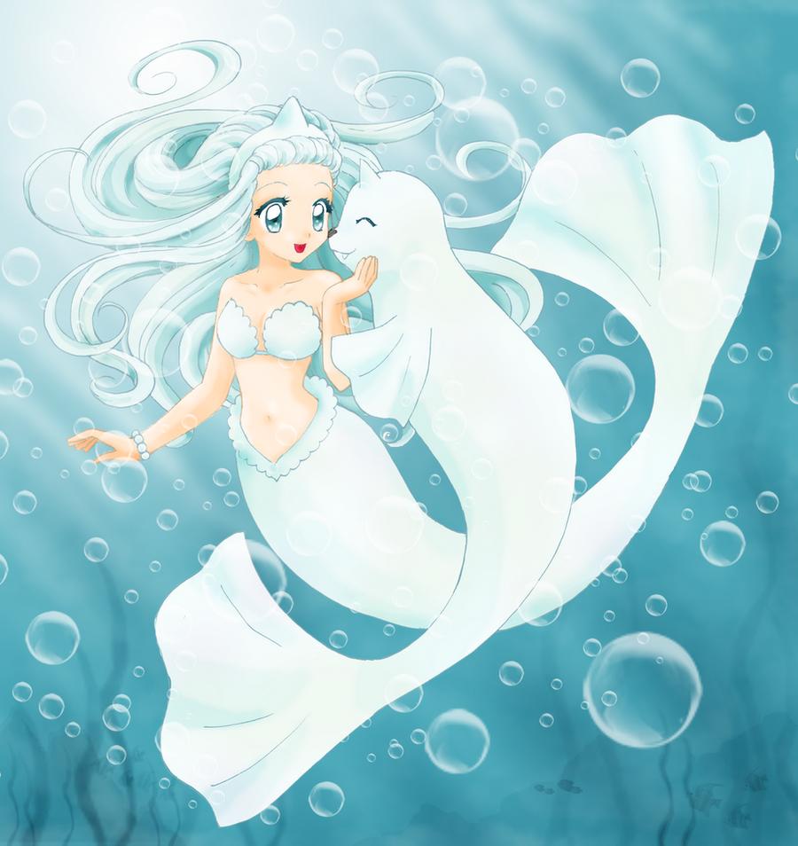 dewgong mermaid by chikorita85 on deviantart