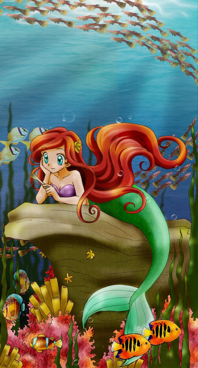 Ariel anime style by chikorita85