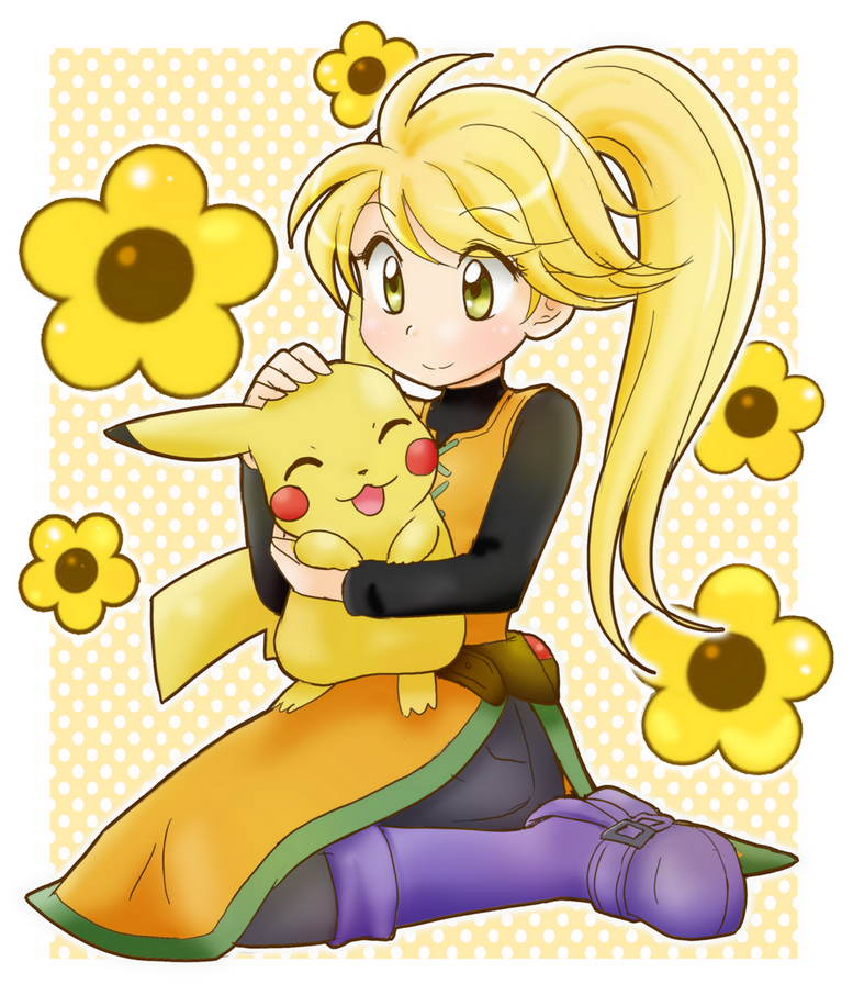 Yellow and Pika by chikorita85