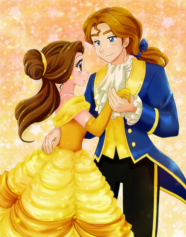 Belle And Prince Anime Style