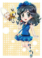 Moon trainer Brooke and Dootz-Commission by chikorita85