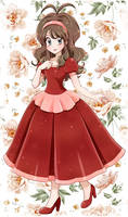 Touko with red dress- Commission