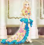 Flowers Dress - Commission by chikorita85