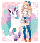 Trainer with Ponyta- Commission