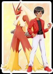 Pokemon trainer and Blaziken- Commission