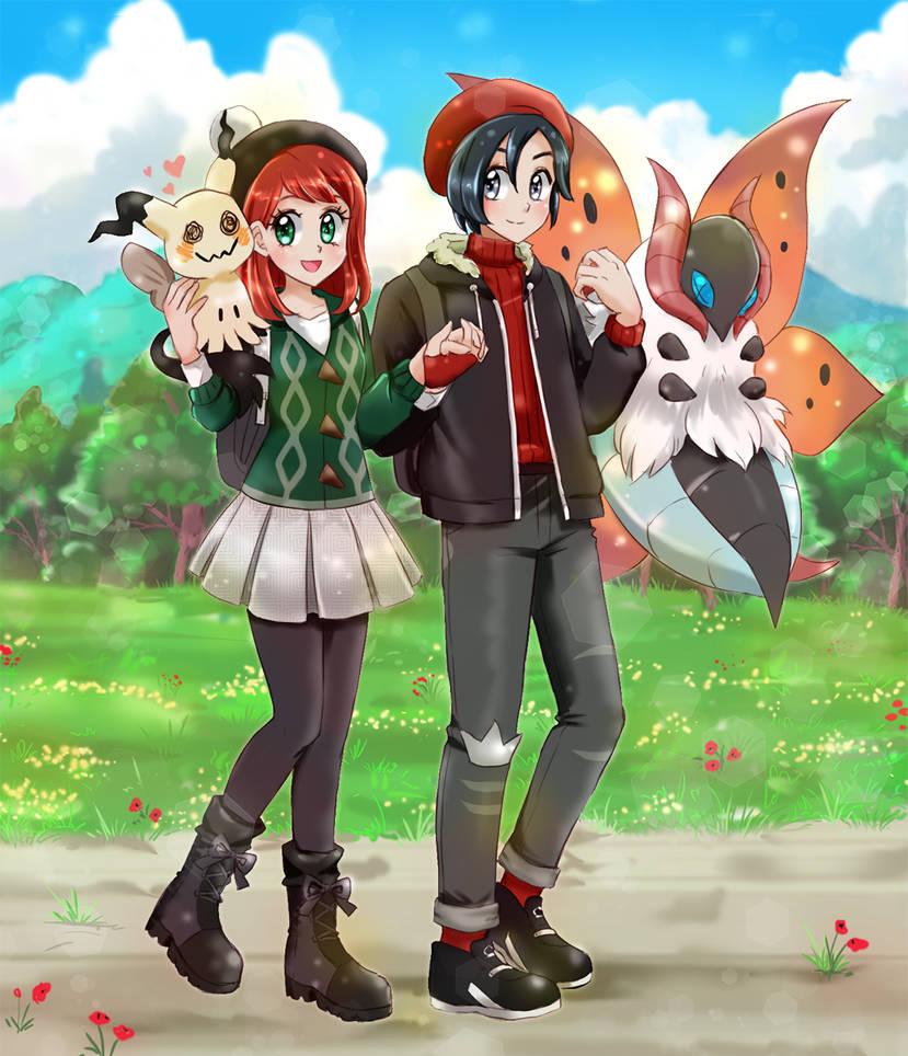 Couple Pokemon Trainer-commission