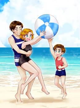 Webtoon Summer collab (see the link below)
