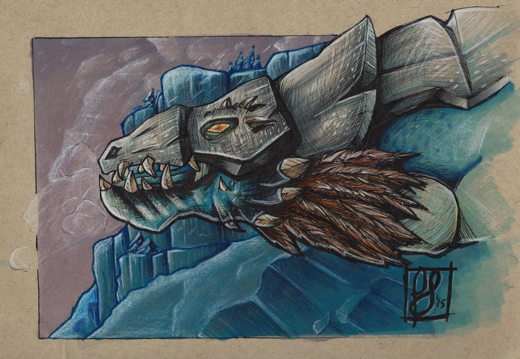 Blue Proto Drake by querulousArtisan