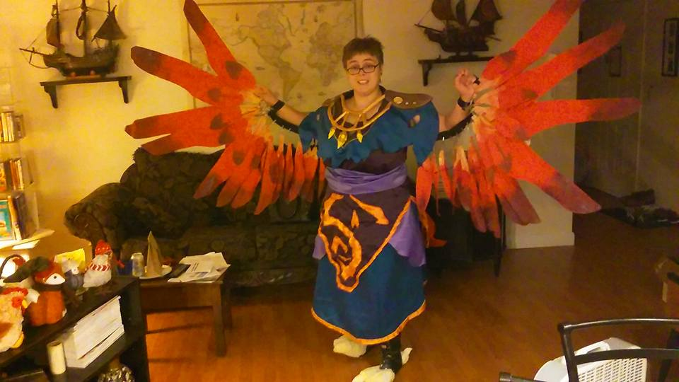 Arakkoa Cosplay Progress by querulousArtisan