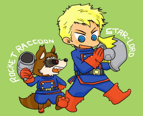 Star Lord And Rocket Raccoon By Timothygreenii On Deviantart: Star-Lord And Rocket Raccoon By Kaiko6 On DeviantArt