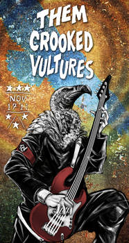 Them Crooked Vultures album poster