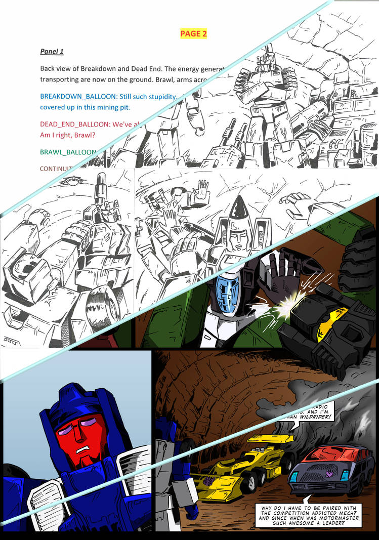 Birth of a comic page by RegenerationPlus