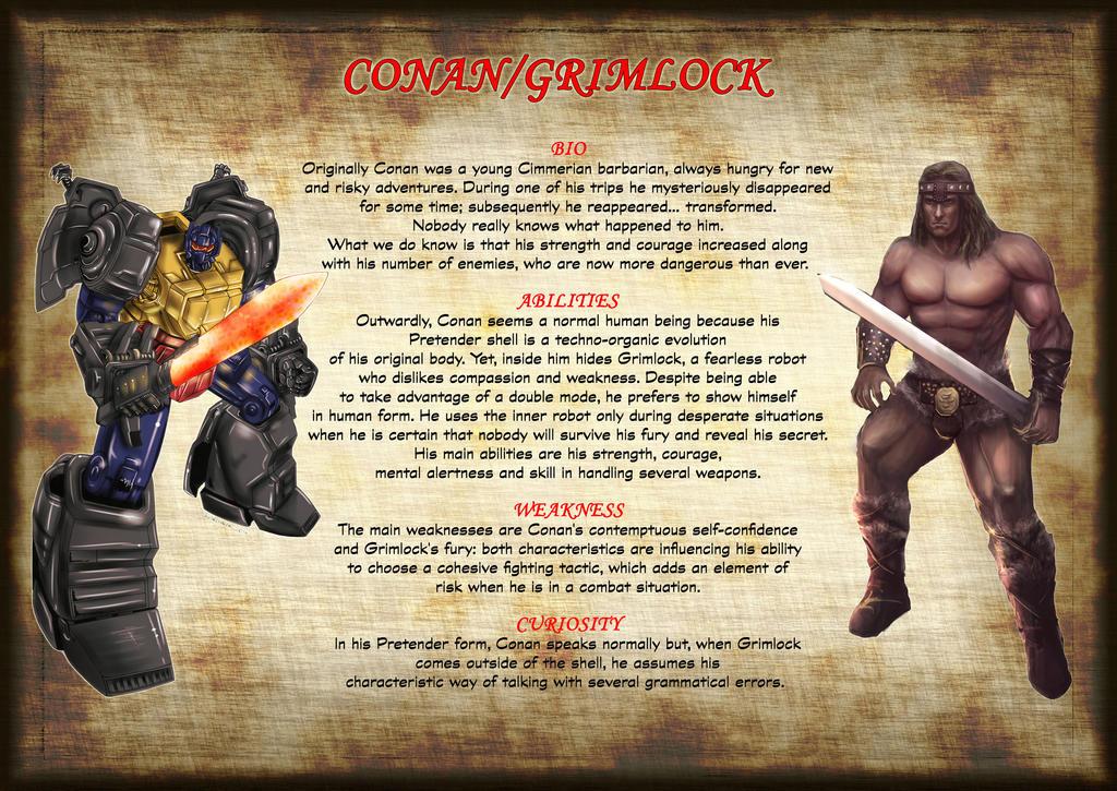 Transformers Tales Conan page 4 bio by RegenerationPlus