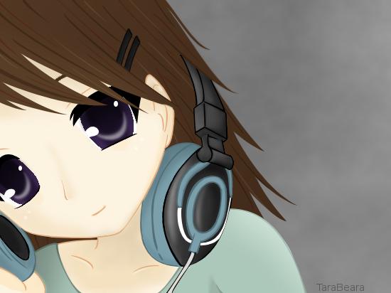 Headphones Girl By Tarabearalove On Deviantart