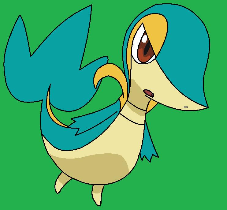 Shiny Snivy-Tsutarja by PokemonBWishesCilan on DeviantArt