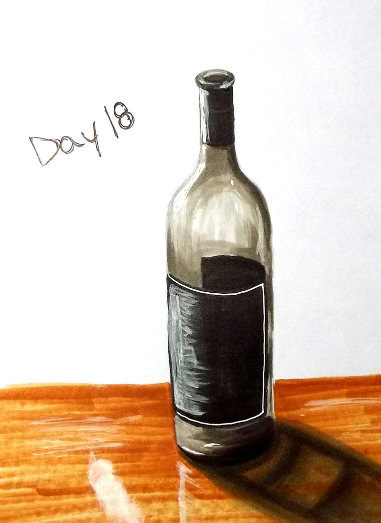 Inktober Day 18 - Bottle by Nemoburton31