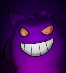 Day 16 - Gengar by Nemoburton31
