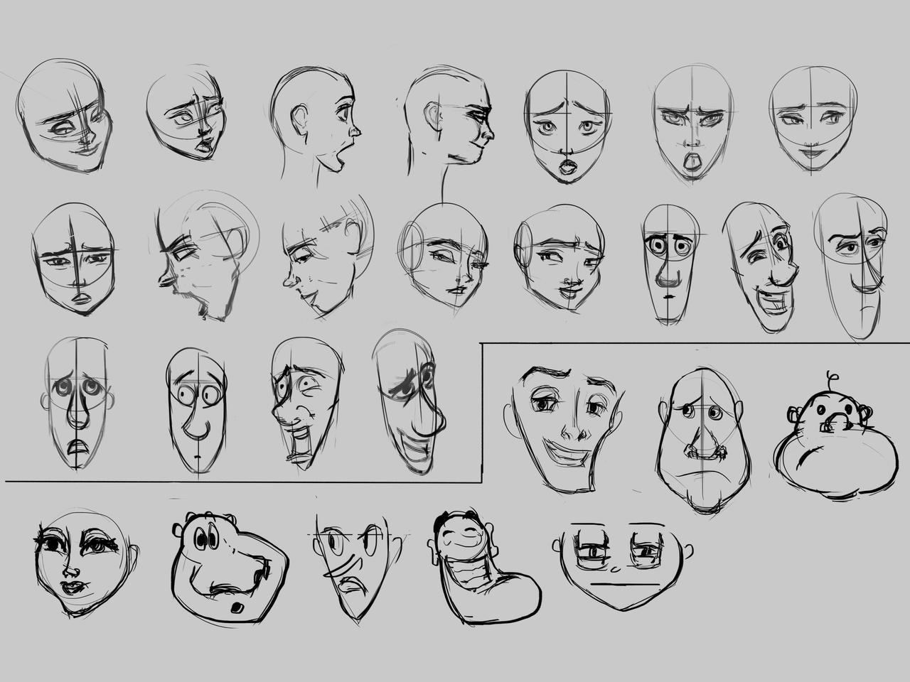 Cartoon Expression Studies