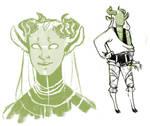 Lark clothing and head markings