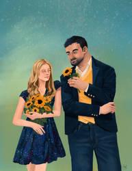 Sunflowers + Stars