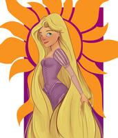 Fanart: Rapunzel by Gii3