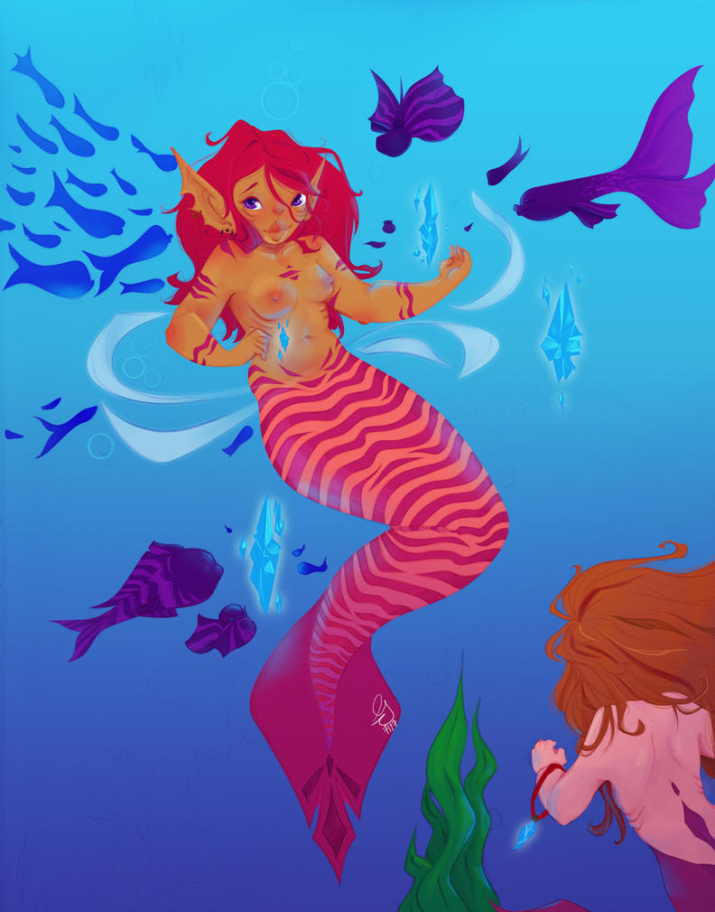 Chubby mermaid by Gii3