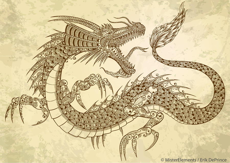 Chinese Mehndi Henna : Henna tattoo dragon by erikdeprince on deviantart