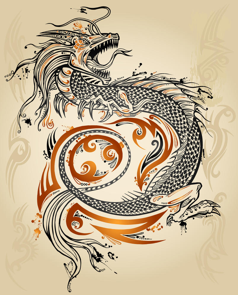 Tattoo dragon by erikdeprince on deviantart for Japanese tattoo art