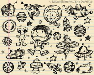Cute Outer Space Sketches