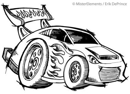 Race Car Doodle Easy