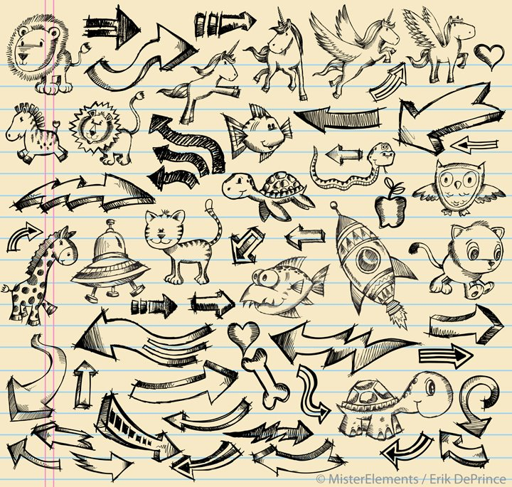 Cute animals sketches and doodle sketches by erikdeprince for Cute little doodles to draw