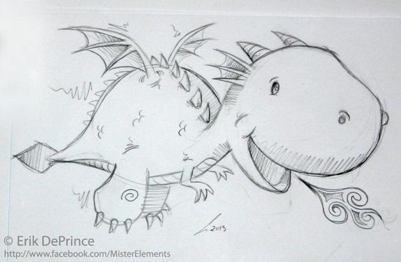 Cute Baby Dragon Sketch By Erikdeprince On Deviantart