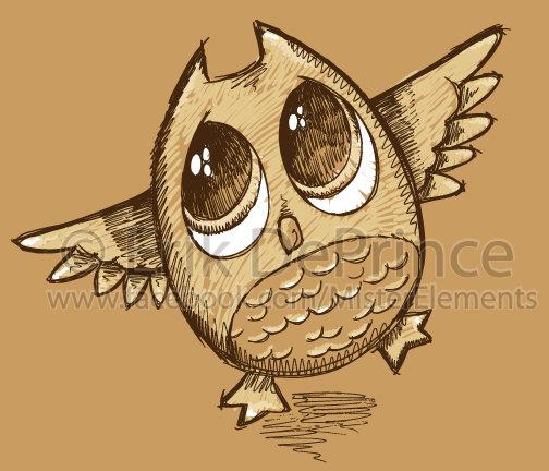 Cute Owl Sketch by ErikDePrince on DeviantArt